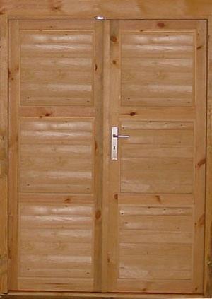 Porte double d 39 abri de jardin - Porte exterieure double battant ...