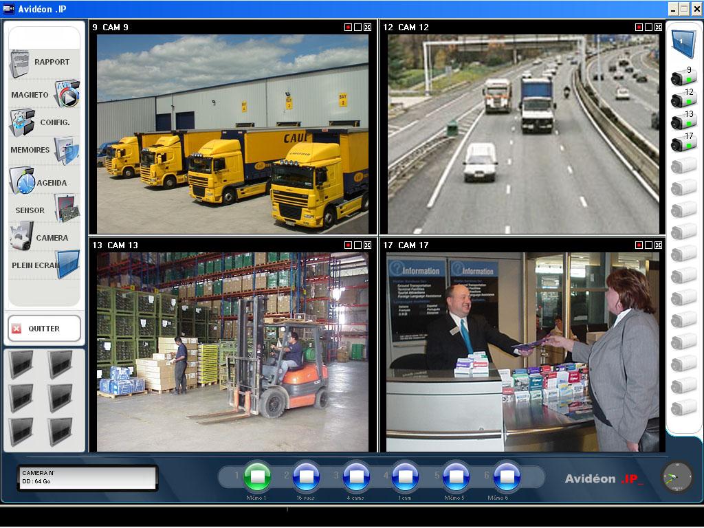 Logiciel systeme videosurveillance avideon ip