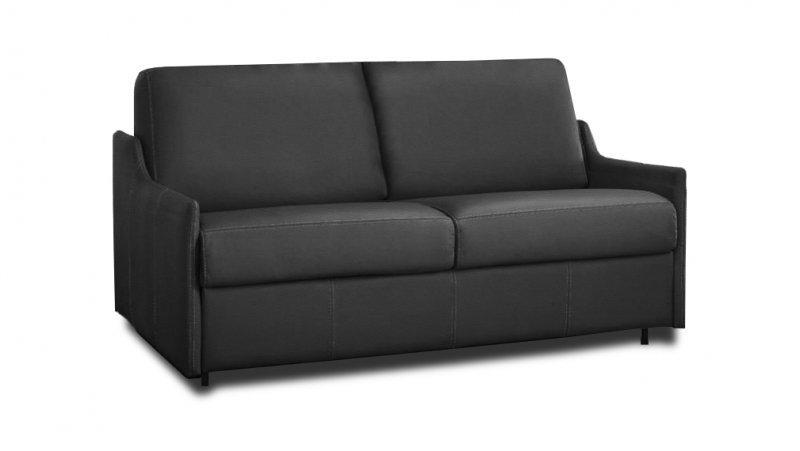 Canape convertible rapido luna cuir couchage quotidien 140 for Canape convertible bon couchage