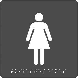Pav plaq braille toilet fem n/g 8055937