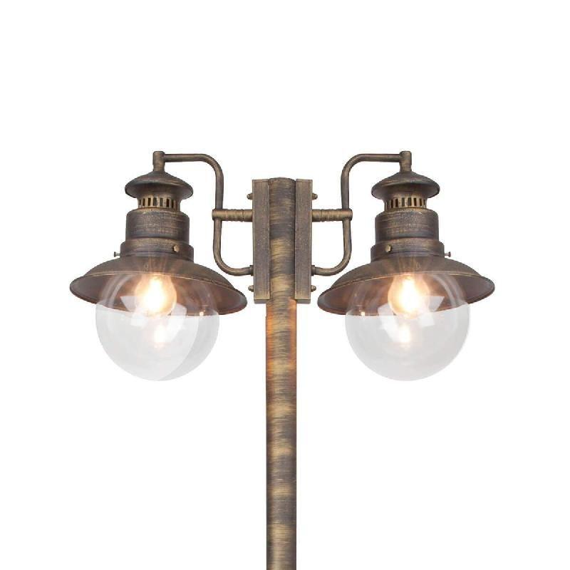LAMPADAIRE À DEUX LAMPES ARTU EN NOIR/DORÉ