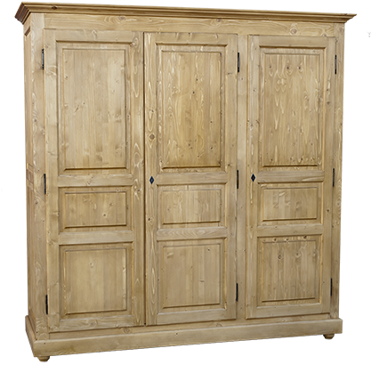 armoire 3 portes l 211 cm en pin massif c vennes. Black Bedroom Furniture Sets. Home Design Ideas