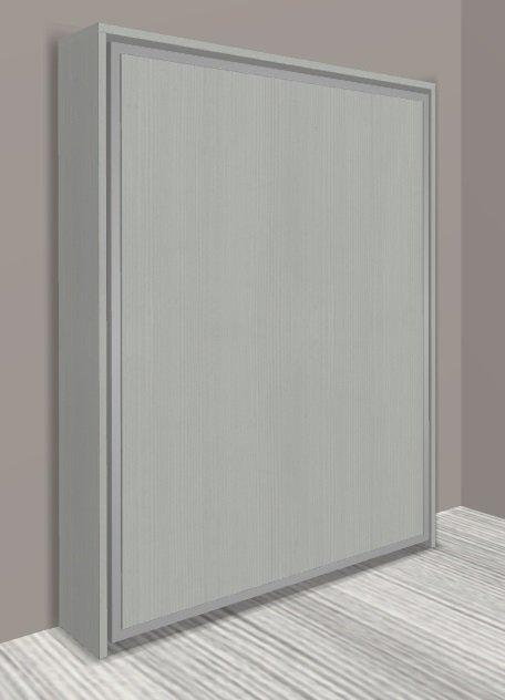 armoire lit escamotable cronos chene gris couchage 140 22 200 cm. Black Bedroom Furniture Sets. Home Design Ideas