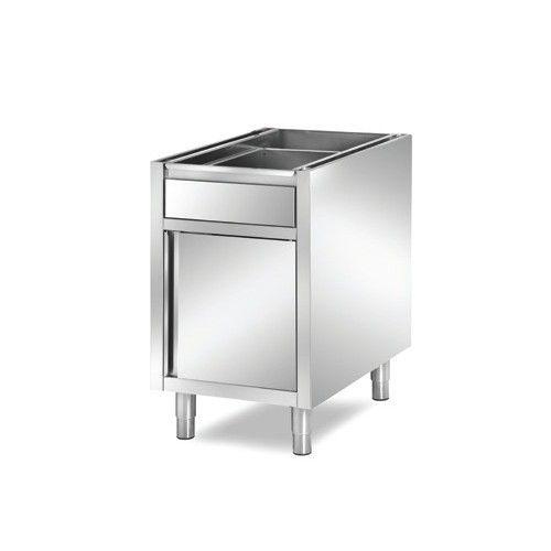 meuble boulanger patissier inox aisi 304 1 tiroir et 1 porte battante longueur 440 mm. Black Bedroom Furniture Sets. Home Design Ideas