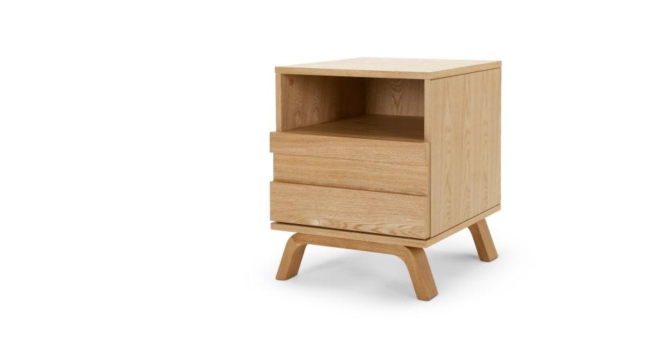 luka table de chevet chene. Black Bedroom Furniture Sets. Home Design Ideas