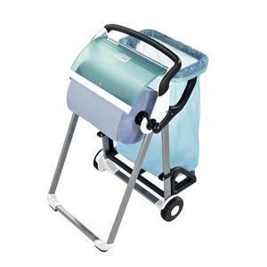 derouleur sur pieds de papier essuie tout avec support pour sac poubelle 64 6 x 100 6 cm. Black Bedroom Furniture Sets. Home Design Ideas