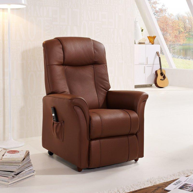 freedom fauteuil relax et releveur electrique sans fil cuir cognac. Black Bedroom Furniture Sets. Home Design Ideas