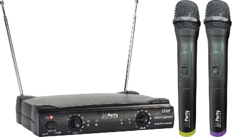 SYSTÈME DE MICROPHONE PARTY 200 UHF PARTY LIGHT AND SOUND