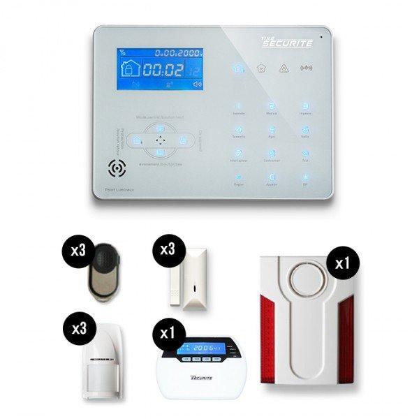 Kits d 39 alarmes tous les fournisseurs kits d 39 alarme for Alarme maison sans fil tike securite