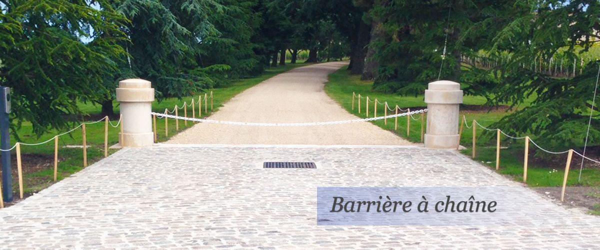Barrière à chaîne automatique - portis - 3 à 10 m
