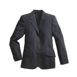 blazer femme tissu melange bleu marine taille eu 42 fr 44 pionier workwear. Black Bedroom Furniture Sets. Home Design Ideas