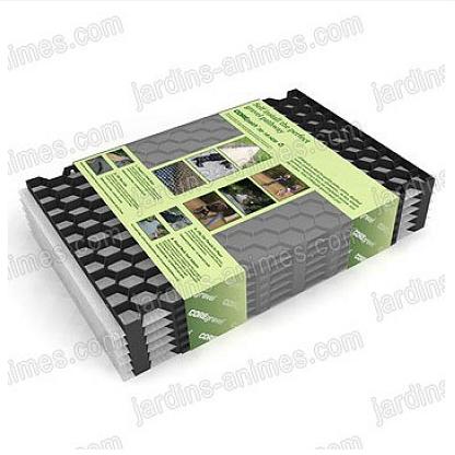 Plaque stabilisation gravier noir 57.5cmx40cm xhaut.18mm, lot de 6 ...