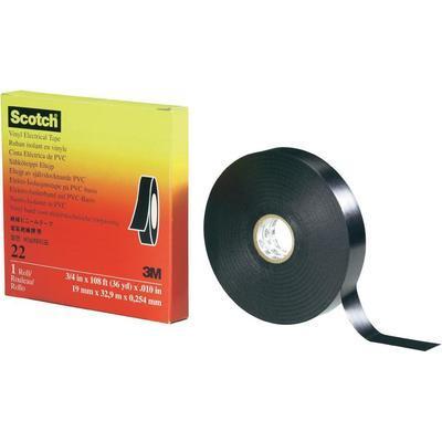 RUBAN ISOLANT SCOTCH™ 22 3M 80-0120-1704-4 NOIR (L X L) 33 M X 19 MM 1 ROULEAU(X)