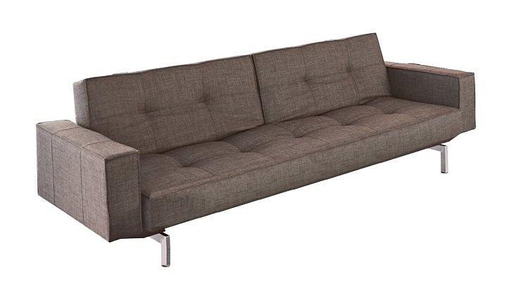 canape design oz marron convertible lit 200 115 cm. Black Bedroom Furniture Sets. Home Design Ideas