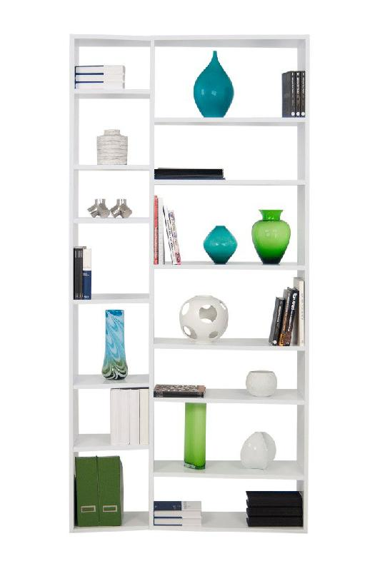 Temahome Buddy 14 Casiers Bibliotheque Etagere Design Laquee Blanc Mate