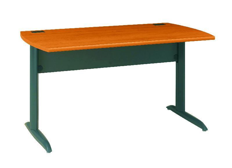Bureau pied m tal jazz largeur 80 cm coloris aulne for Bureau 80 cm de largeur