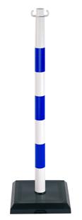 Poteau PVC Bleu/Blanc sur socle lesté 3kg - 1000148