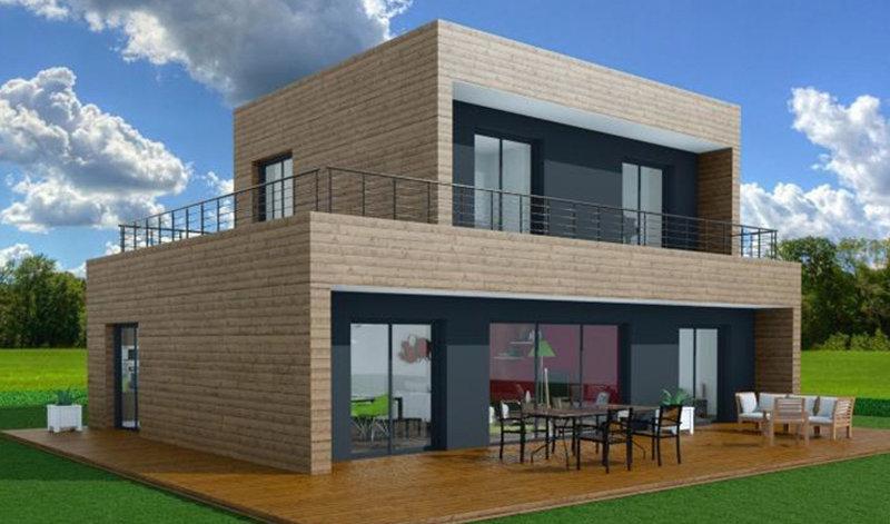 maison a ossature en bois a etages toop 5 surface habitable 125 m surface brute 173 m 5. Black Bedroom Furniture Sets. Home Design Ideas