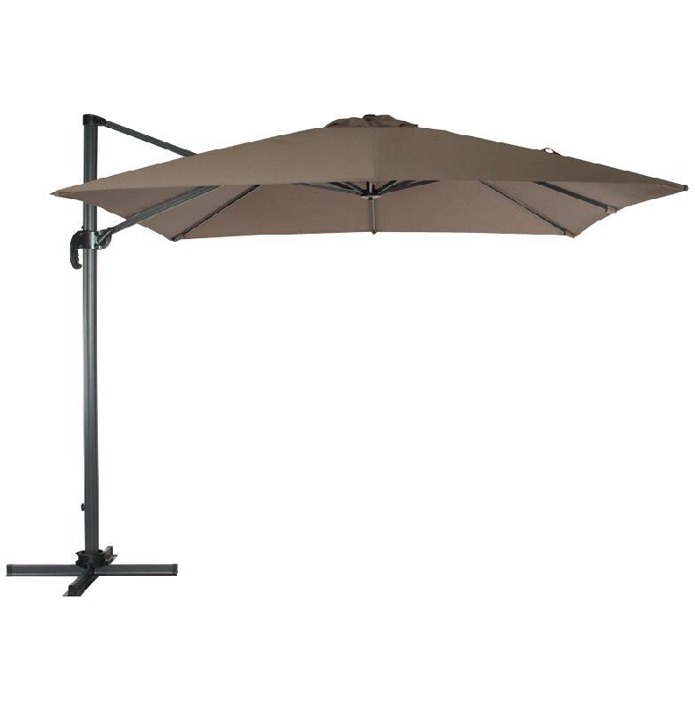 parasol d port 39 playa 39 taupe avec structure en aluminium. Black Bedroom Furniture Sets. Home Design Ideas