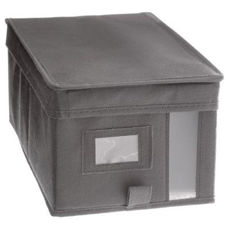 bo te de rangement dressing 20x30cm gris clair paris prix. Black Bedroom Furniture Sets. Home Design Ideas