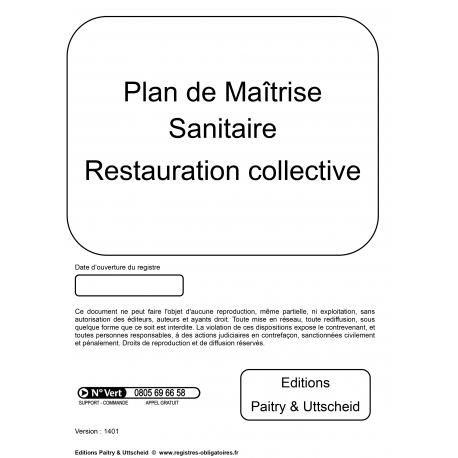Plan de maitrise sanitaire restauration rapide