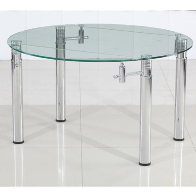 Table en verre noire rallonge extensible xures bed for Table verre rallonge