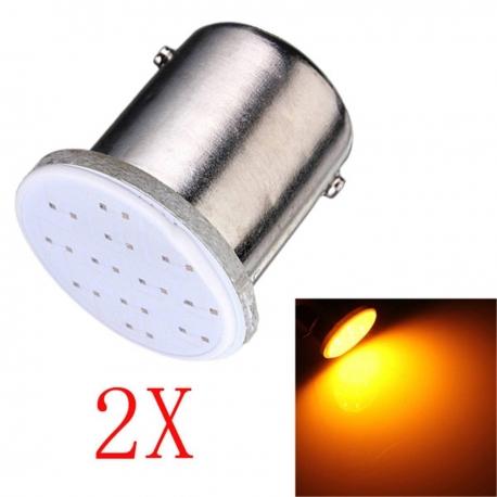À Ba15s P21 1156 1010 Cob P21w 2 Ampoules Led Orange D9bEe2IYWH