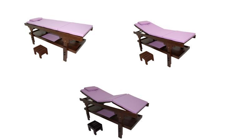 TABLE FIXE EN BOIS LUXE MOOREA 3 BL LILAS