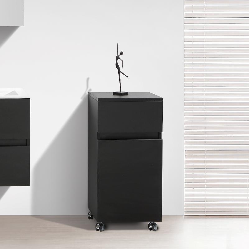 meuble de rangement sur roulettes siena hauteur 84 cm. Black Bedroom Furniture Sets. Home Design Ideas