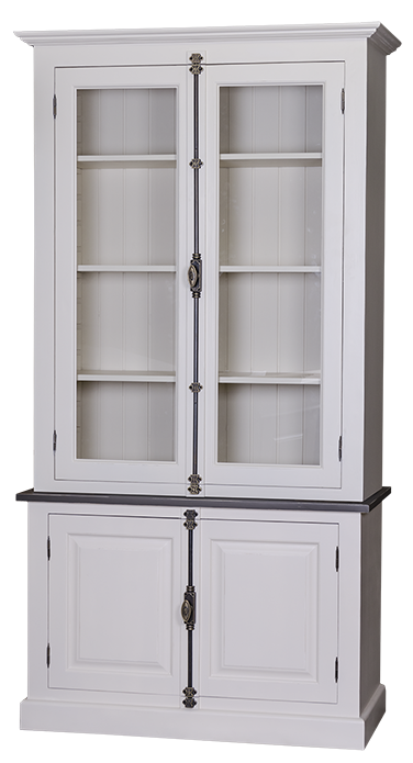 buffet vaisselier 4 portes en pin massif l 120 cm mackay. Black Bedroom Furniture Sets. Home Design Ideas