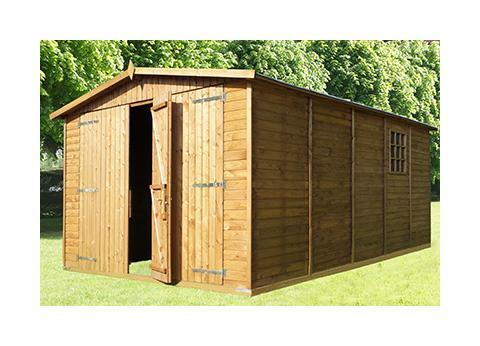 Garage en bois comparez les prix pour professionnels sur for Chalet bois traite autoclave