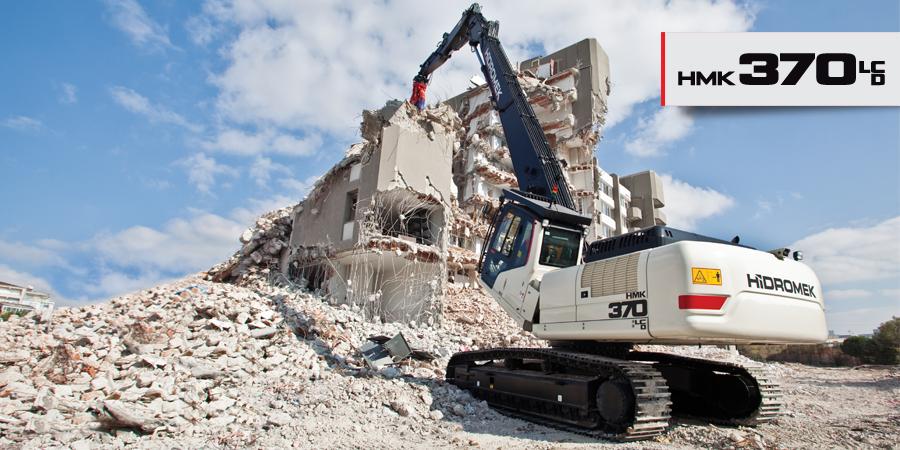 Pelle de démolition 44,5T - H?DROMEK HMK 370 LC D