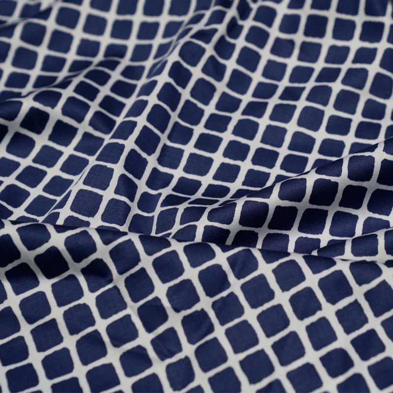 tissu coton imprime carreaux bleu et blanc x 10cm. Black Bedroom Furniture Sets. Home Design Ideas