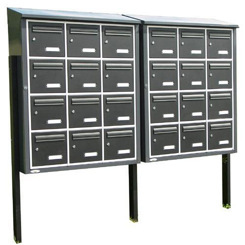 sturtz serrurerie produits boites aux lettres collectives. Black Bedroom Furniture Sets. Home Design Ideas