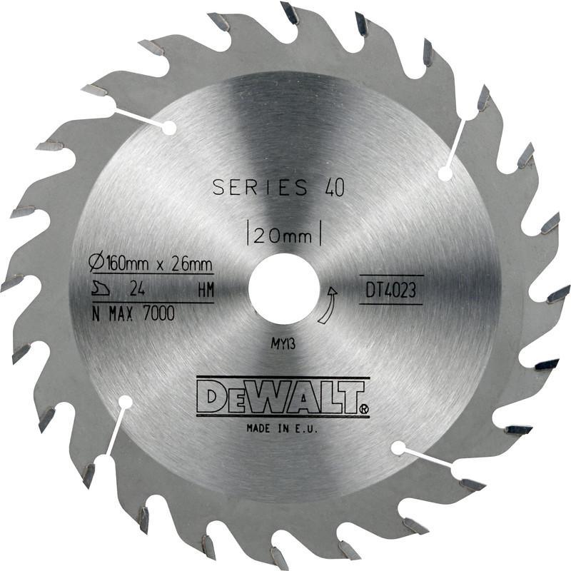 DEWALT LAME SCIE CIRCULAIRE BOIS S40 160X20X48DTS