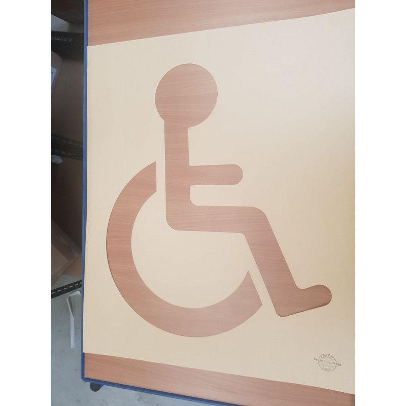 Pochoir handicapé - rubalise - 50cm*60cm