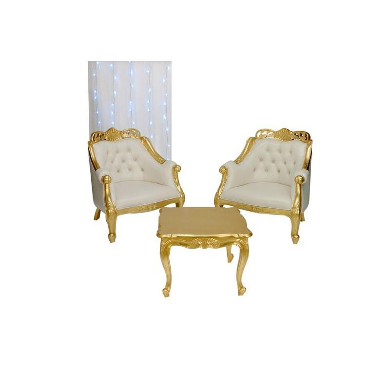 decoration doree assuree avec cet ensemble 2 fauteuil. Black Bedroom Furniture Sets. Home Design Ideas
