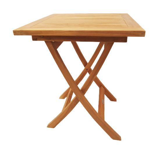 Table d 39 ext rieur teck 39 attitude achat vente de table - Table carre exterieur ...