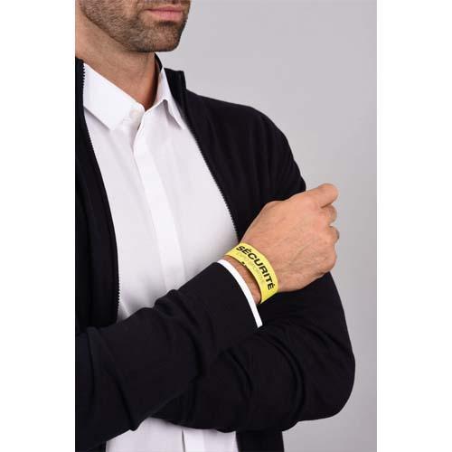 Avery sachet de 50 bracelets d identification imprimables laser jaune 26,5 x 1,8 cm