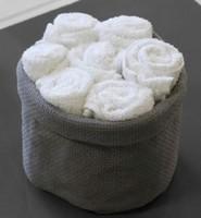 Panier de 7 serviettes invité « blanche neige »
