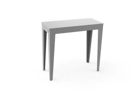table console matiere grise industrie. Black Bedroom Furniture Sets. Home Design Ideas