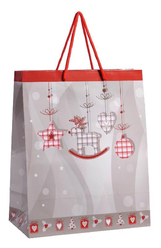 Sac cadeau no l ecossais taille m comparer les prix de - Sac cadeau noel ...