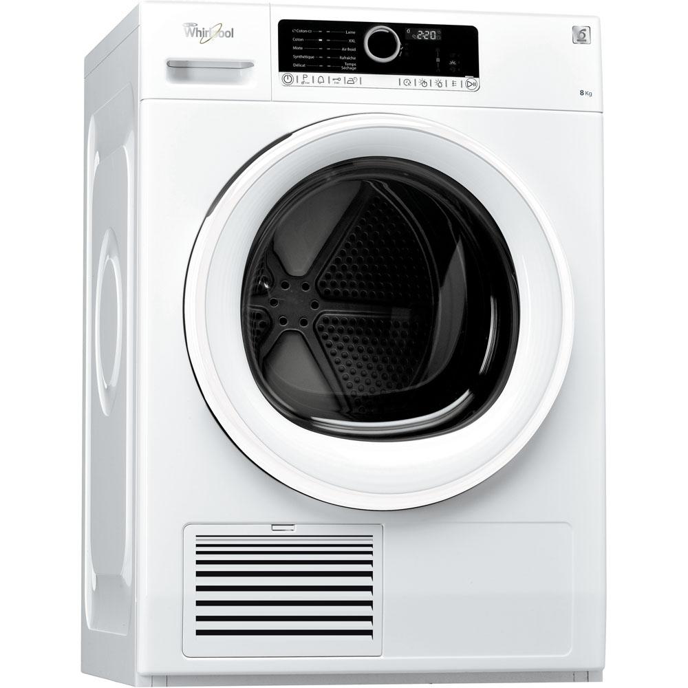 Sèche-linge à condensation whirlpool : posable, 8 kg - dscx 80110