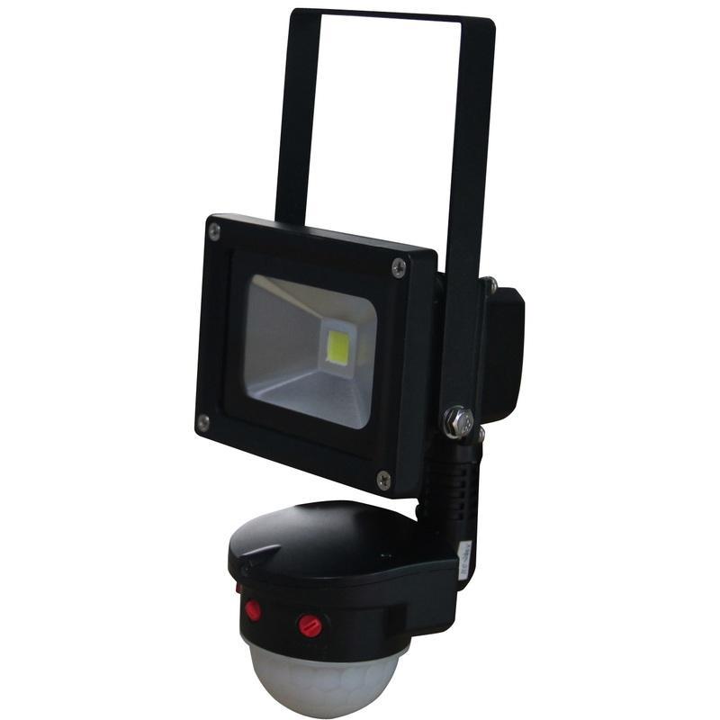 led projecteur 10w 6000k ip65 avec d tecteur de mouvement pir eurobryte comparer les prix de. Black Bedroom Furniture Sets. Home Design Ideas