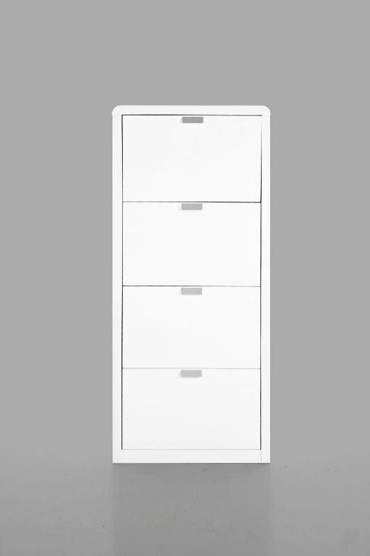 milki meuble chaussures laque blanc design. Black Bedroom Furniture Sets. Home Design Ideas