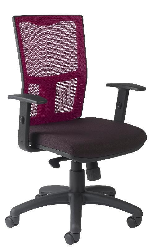 chaise ritz assise tissu noir dossier resille violine avec reglage lombaire. Black Bedroom Furniture Sets. Home Design Ideas