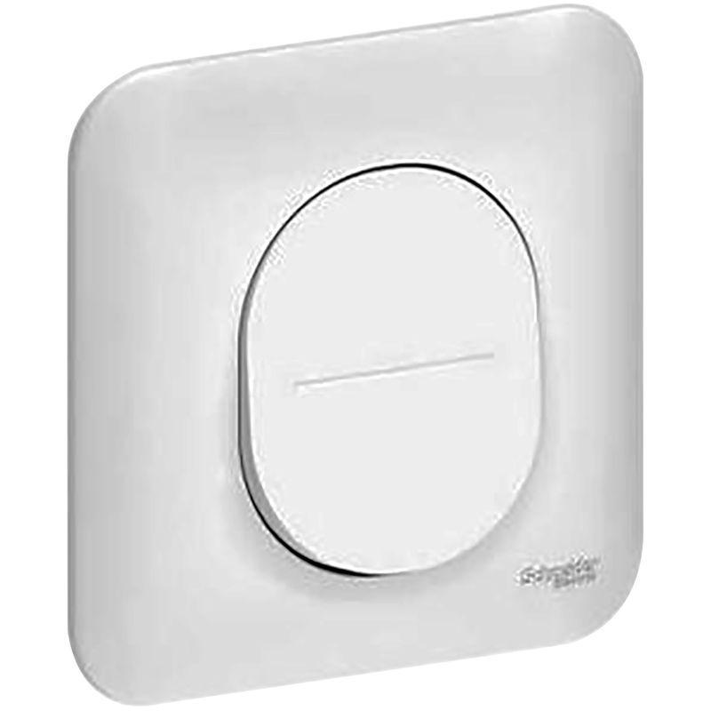 interrupteur simple allumage schneider 10a blanc ral 9003 comparer les prix de interrupteur. Black Bedroom Furniture Sets. Home Design Ideas