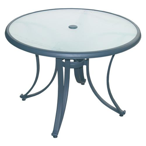 table de jardin ronde plateau verre. Black Bedroom Furniture Sets. Home Design Ideas