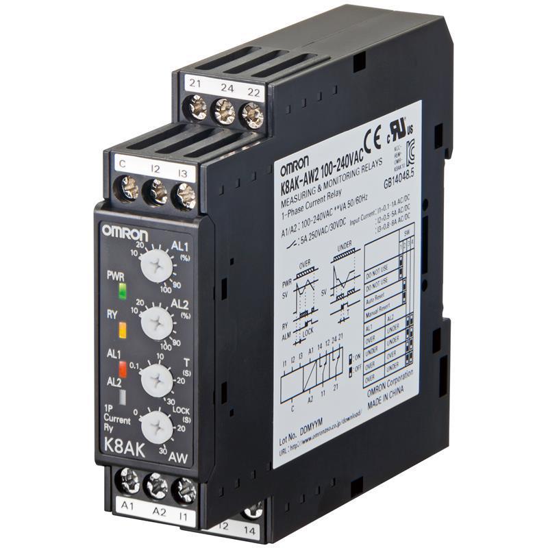 Relais de contrôle k8ak-aw2 24vac/dc