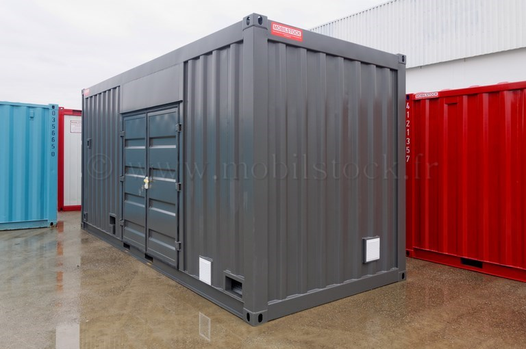 Conteneur 20 39 high cube 2 portes isole electricite for Container isole